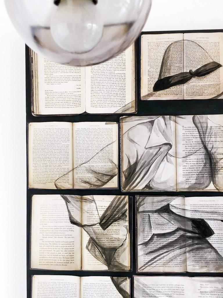 June+Walk+Design+DIY+Artwork+on+Books+10+Interior+Design+Bangalore